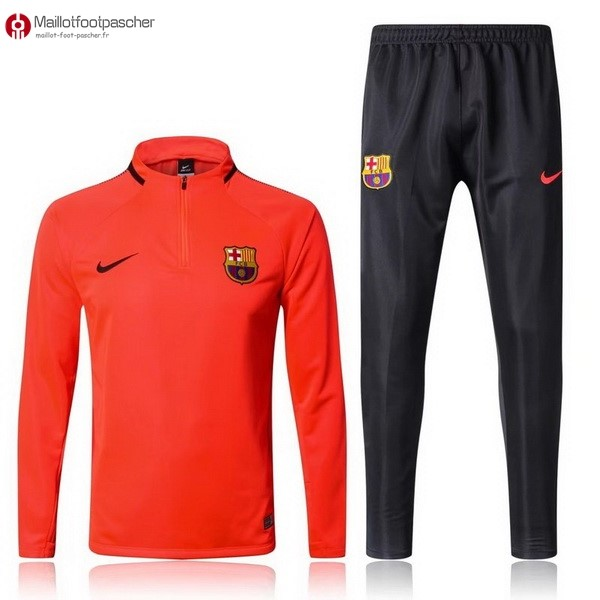 Survetement Foot Pas Cher Barcelona 2017/2018 Orange Marine