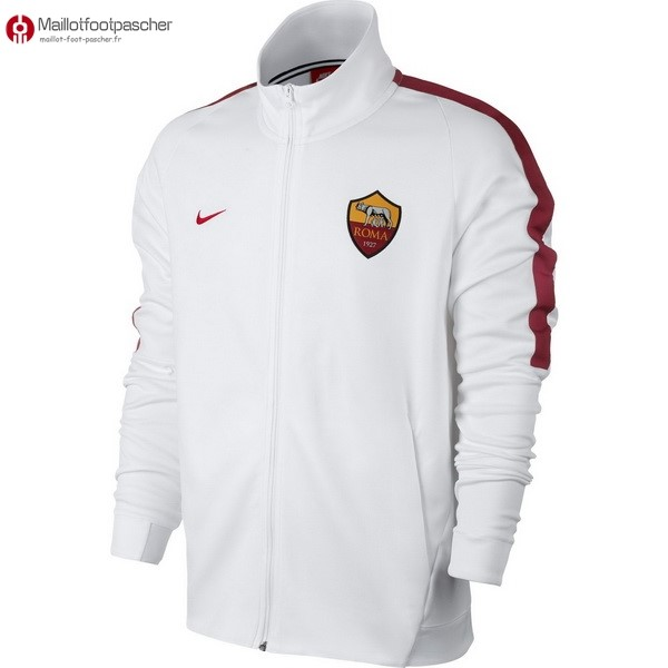 Veste Foot Pas Cher AS Roma 2017/2018 Blanc