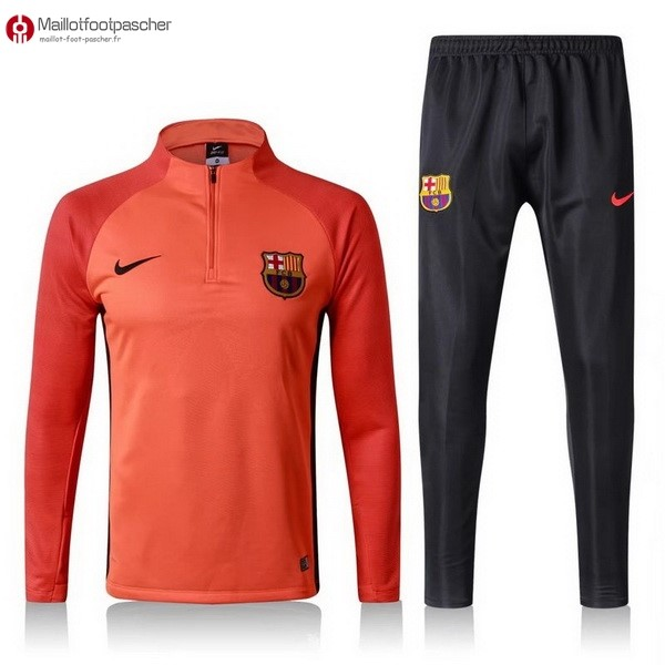 Survetement Foot Pas Cher Barcelona 2017/2018 Orange Noir