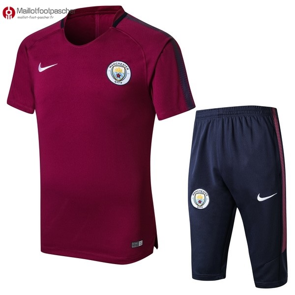 Entrainement Foot Pas Cher Manchester City Conjunto Completo 2017/2018 Rouge