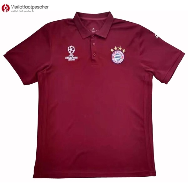 Polo Foot Pas Cher Bayern Munich 2017/2018 Rouge