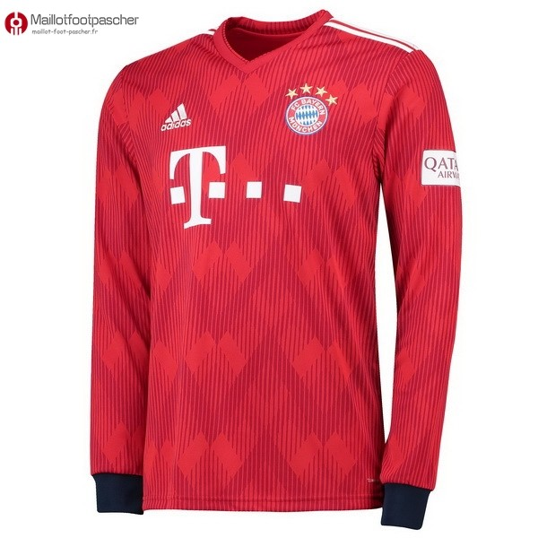 Maillot Foot Pas Cher Bayern Munich Domicile ML 2018/2019 Rouge