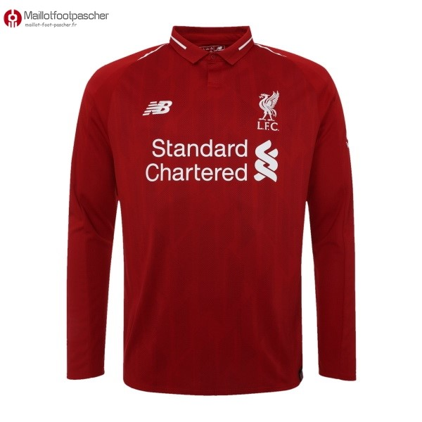 Maillot Foot Pas Cher Liverpool Domicile ML 2018/2019 Rouge
