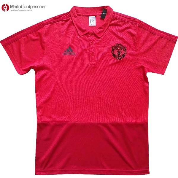 Polo Foot Pas Cher Manchester United 2017/2018 Rouge Marine