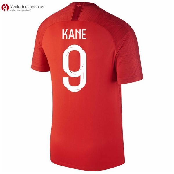 Maillot Foot Pas Cher Angleterre Exterieur Kane 2018 Rouge