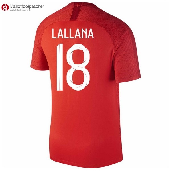 Maillot Foot Pas Cher Angleterre Exterieur Lallana 2018 Rouge