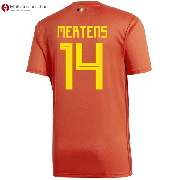 Maillot Foot Pas Cher Belgica Domicile Mertens 2018 Rouge