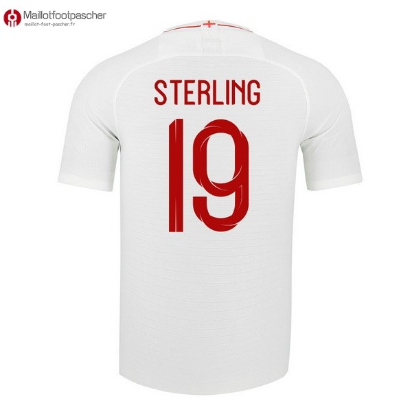 Maillot Foot Pas Cher Angleterre Domicile Sterling 2018 Blanc