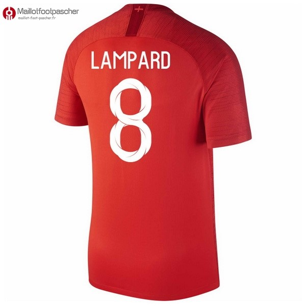 Maillot Foot Pas Cher Angleterre Exterieur Lampard 2018 Rouge