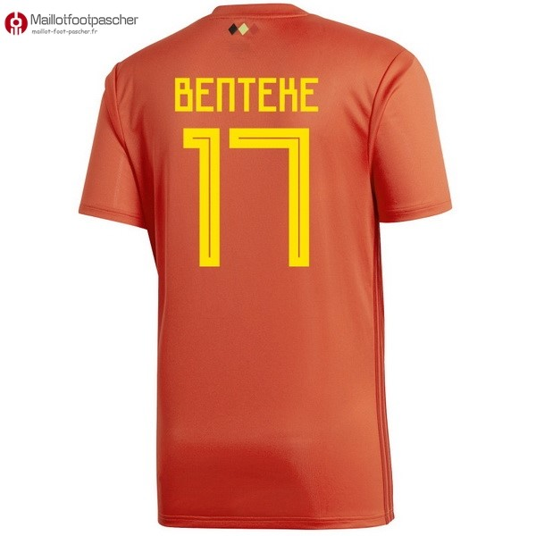 Maillot Foot Pas Cher Belgica Domicile Benteke 2018 Rouge