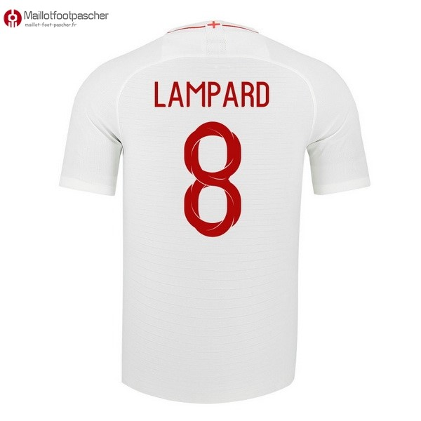 Maillot Foot Pas Cher Angleterre Domicile Lampard 2018 Blanc