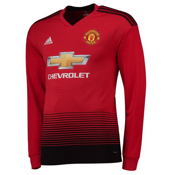 Maillot Foot Pas Cher Manchester United Domicile ML 2018/2019 Rouge