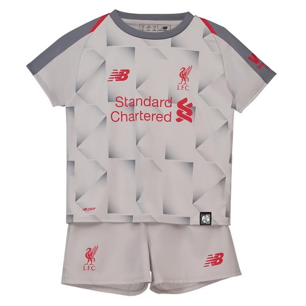 Maillot Foot Pas Cher Liverpool Third Enfant 2018/2019 Blanc