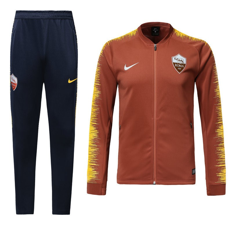 Survetement Foot Pas Cher AS Roma 2018/2019 Orange