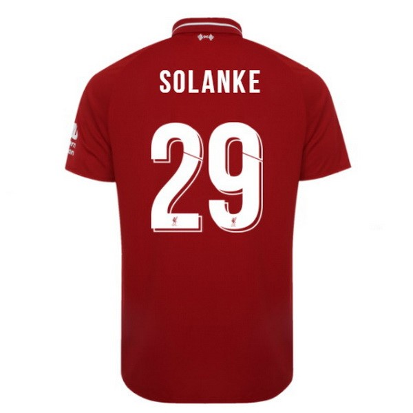 Maillot Foot Pas Cher Liverpool Domicile Solanke 2018/2019 Rouge