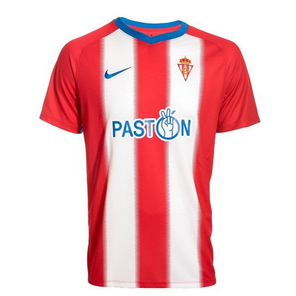 Maillot Foot Pas Cher Real Sporting de Gijón Domicile 2018/2019 Rouge