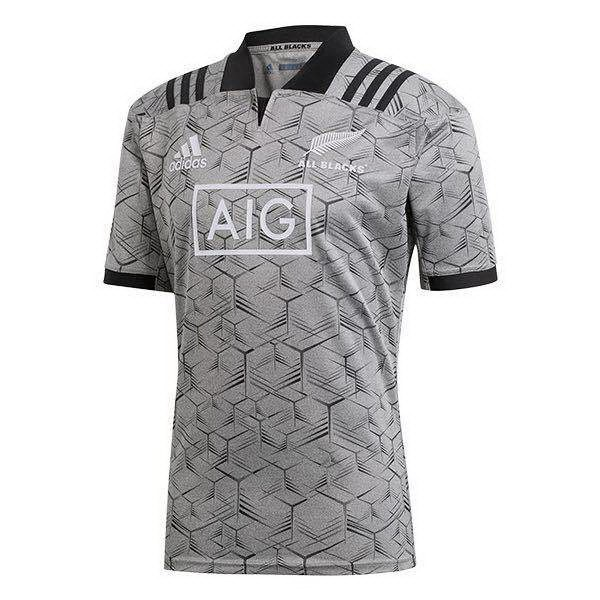 Maillot Rugby Pas Cher Entrainement All Blacks 2018 Gris
