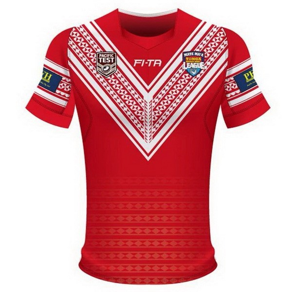 Maillot Rugby Pas Cher Tonga Domicile 2018 Rouge