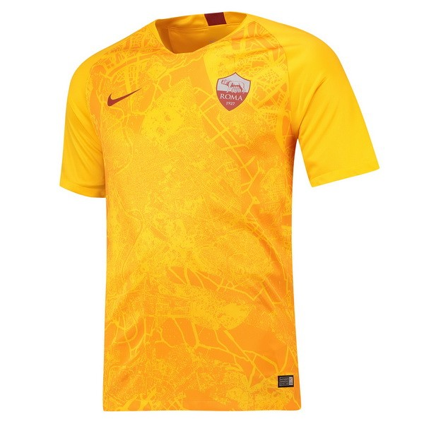 Maillot Foot Pas Cher As Roma Third 2018/2019 Jaune