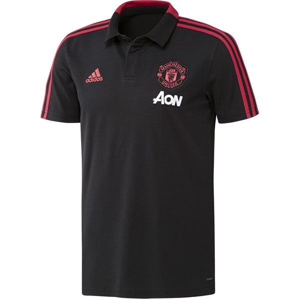 Polo Foot Pas Cher Manchester United 2018/2019 Gris