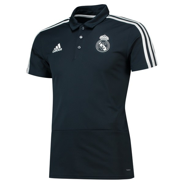 Polo Foot Pas Cher Real Madrid 2018/2019 Noir