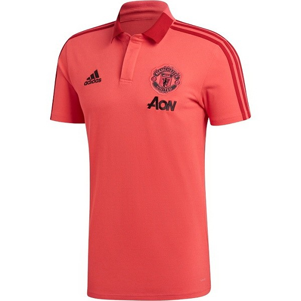 Polo Foot Pas Cher Manchester United 2018/2019 Rouge
