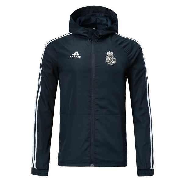 Coupe Vent Foot Pas Cher Real Madrid 2018/2019 Gris Marine