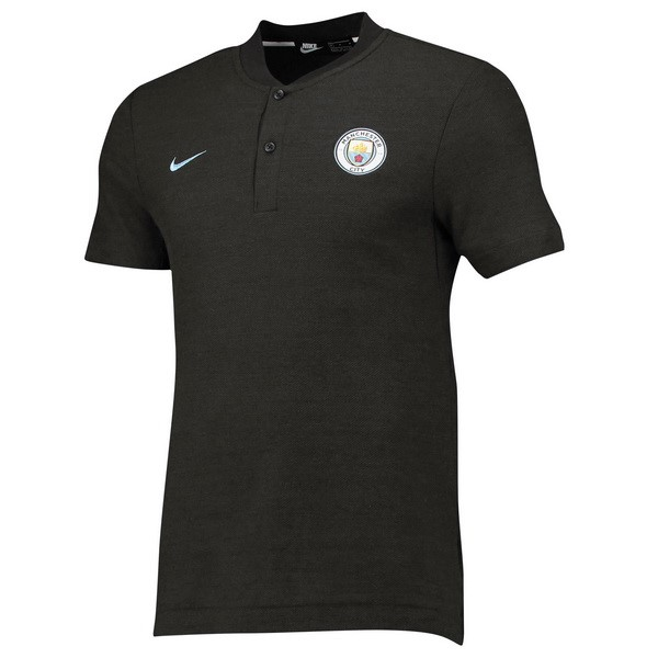 Polo Foot Pas Cher Manchester City 2018/2019 Gris