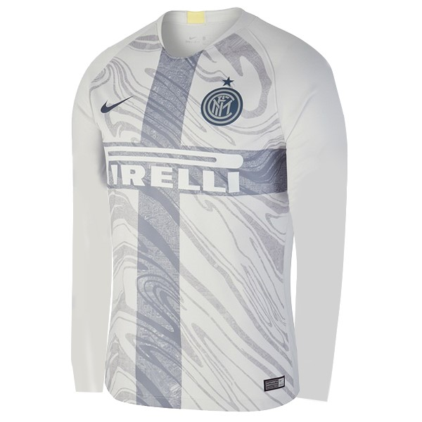 Maillot Foot Pas Cher Inter Milan Third ML 2018/2019 Blanc
