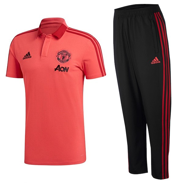 Polo Manchester United Ensemble Complet 2018/2019 Rouge