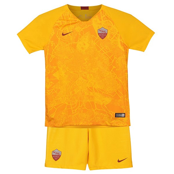 Maillot Foot Pas Cher AS Roma Third Enfant 2018/2019 Jaune