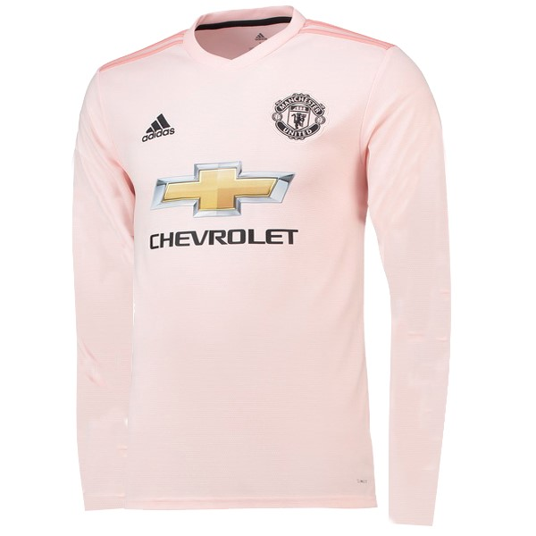 Maillot Foot Pas Cher Manchester United Exterieur ML 2018/2019 Rose