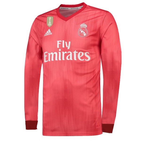 Maillot Foot Pas Cher Real Madrid Third ML 2018/2019 Rouge
