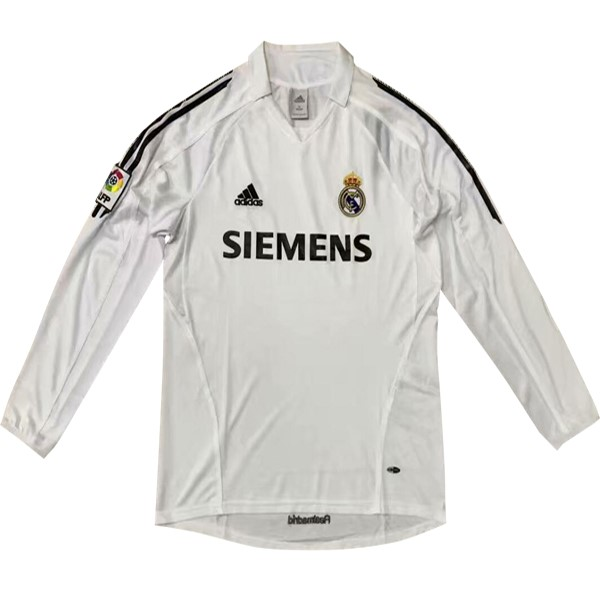 Maillot Foot Pas Cher Real Madrid Domicile ML Retro 5 6 Blanc