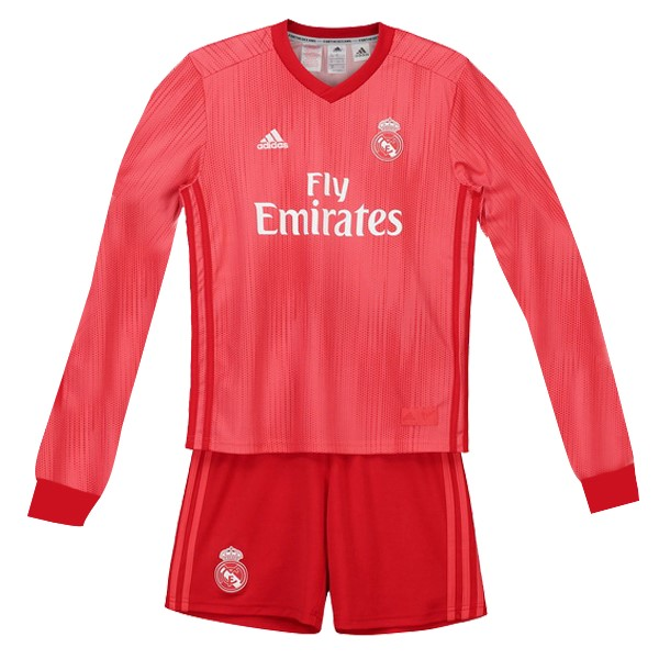 Maillot Foot Pas Cher Real Madrid Third ML Enfant 2018/2019 Rouge