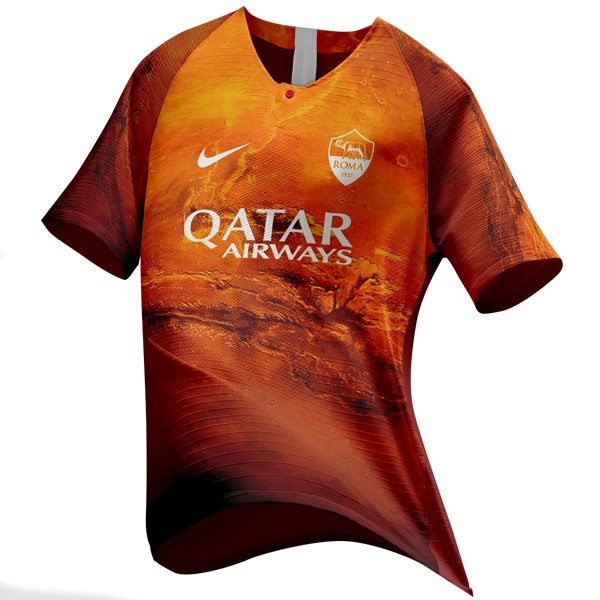 EA Sport Maillot Foot Pas Cher AS Roma 2018/2019 Orange