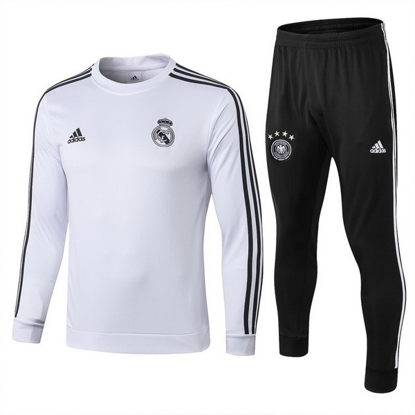 Survetement Foot Pas Cher De Laine Real Madrid 2018/2019 Noir Blanc Noir