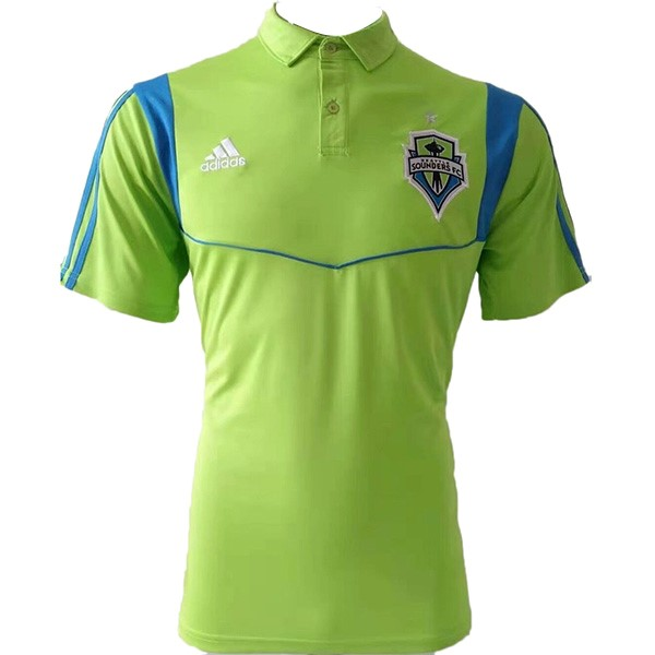Polo Foot Pas Cher Seattle Sounders 2019/2020 Vert Fluorescente