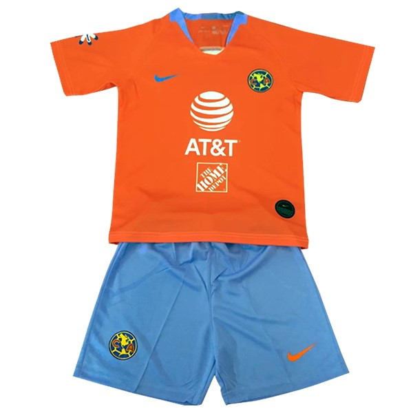 Maillot Foot Pas Cher Club América Third Enfant 2019/2020 Orange