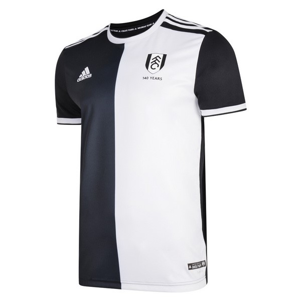 Maillot Foot Pas Cher Fulham 140th Noir Blanc