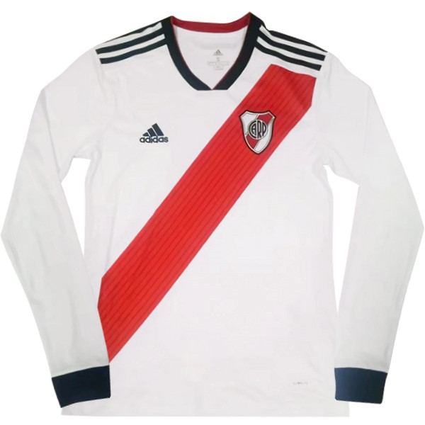 Maillot Foot Pas Cher River Plate Domicile ML 2018/2019 Blanc