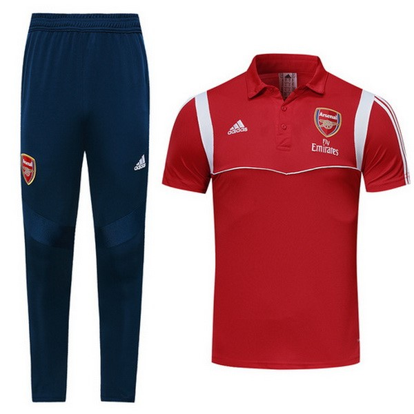 Polo Foot Pas Cher Ensemble Complet Arsenal 2019/2020 Rouge