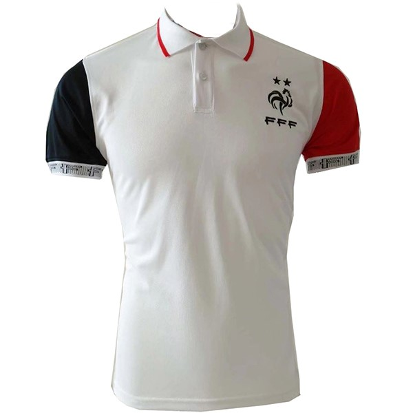 Polo Foot Pas Cher France 2019 Blanc Rouge
