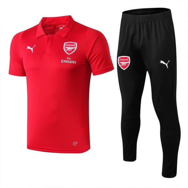 Polo Foot Pas Cher Ensemble Complet Arsenal 2018/2019 Rouge