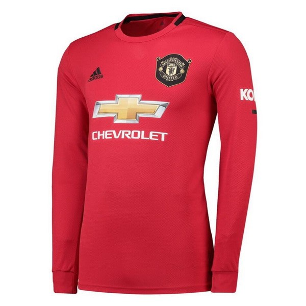 Maillot Foot Pas Cher Manchester United Domicile ML 2019/2020 Rouge