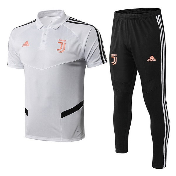 Polo Foot Pas Cher Juventus Ensemble Complet 2019/2020 Blanc Orange