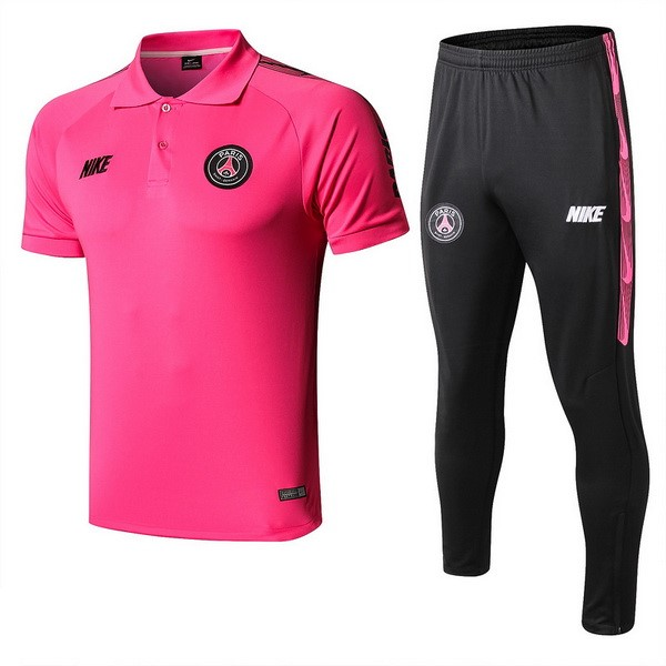 Polo Foot Pas Cher Paris Saint Germain Ensemble Complet 2019/2020 Rose Noir