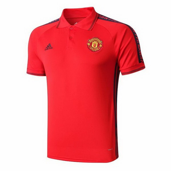 Polo Foot Pas Cher Manchester United 2019/2020 Rouge Jaune