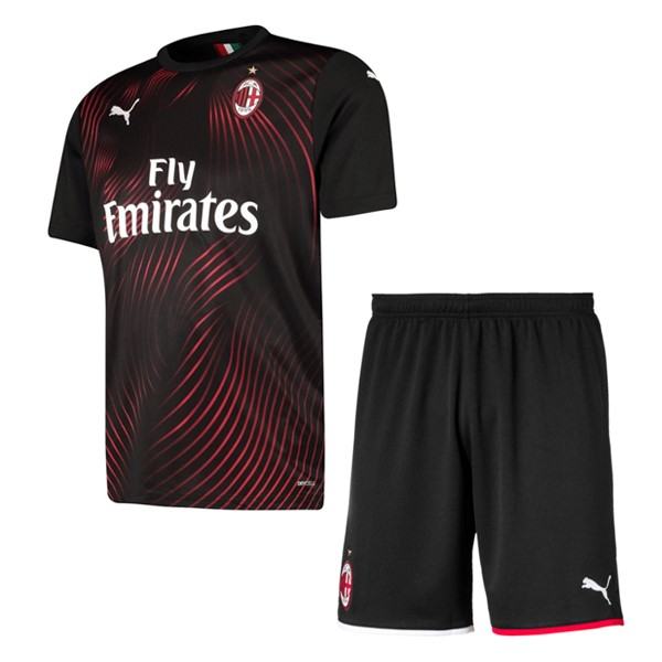 Maillot Foot Pas Cher AC Milan Third Enfant 2019/2020 Rouge Negro