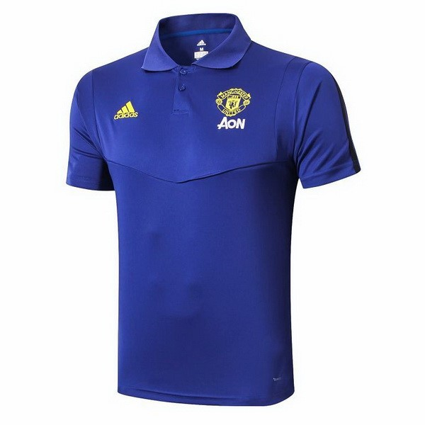 Polo Foot Pas Cher Manchester United 2019/2020 Azul